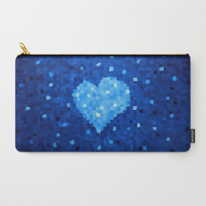 Crystal Blue Heart zip pouch at Society6
