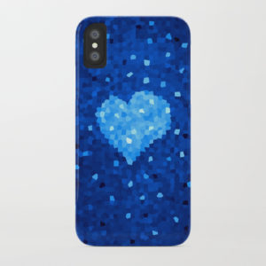 Crystal Blue Heart iPhone case at Society6