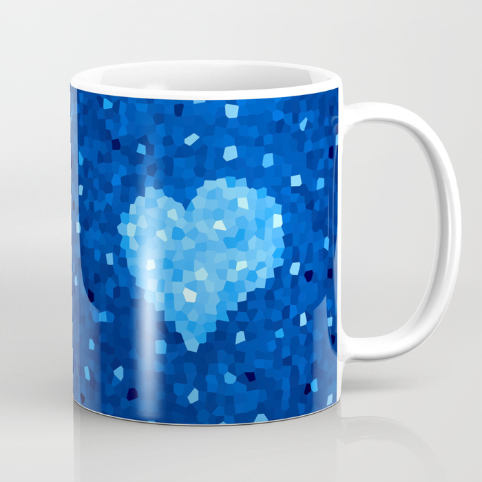 Crystal Blue Heart mug at Society6