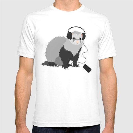 Ferret music lover tee at Society6