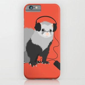 Ferret music lover iPhone case at Society6