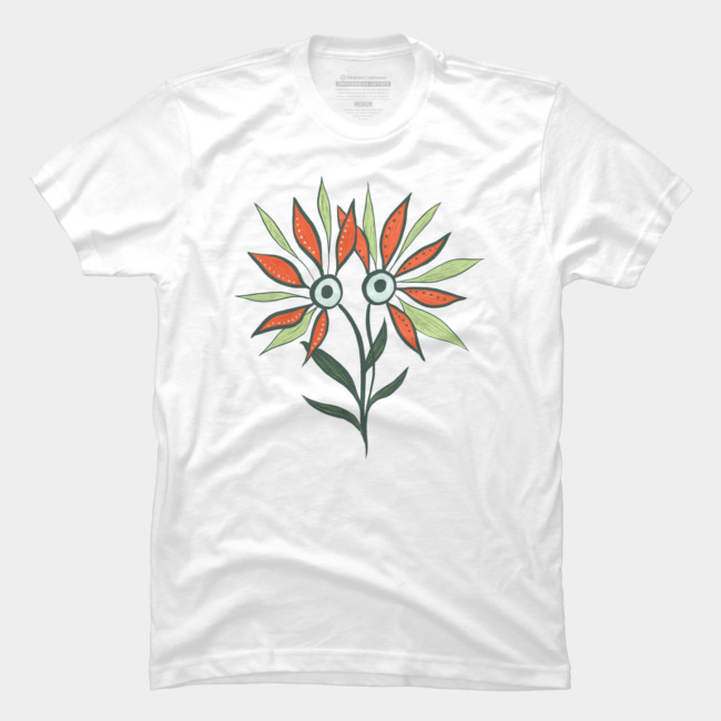 Cute monster shirt with a flower character at Design By humans