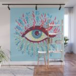 Wall mural designs added to my Society6 store