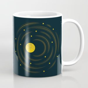 Space art moon and stars dream mug at Society6