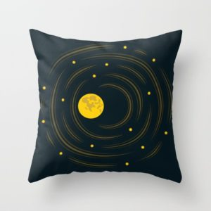 Space art moon and stars dream pillow at Society6