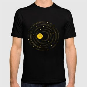 Space art moon and stars dream t-shirt at Society6