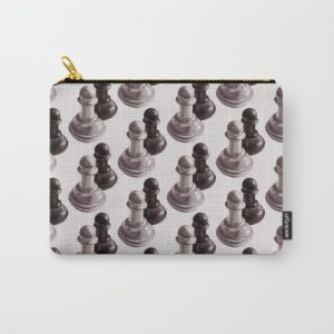 Chess art pouch at Society6