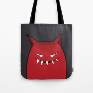 Evil monster bag at Society6