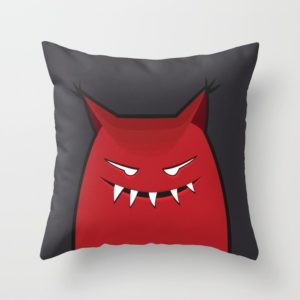 Evil monster pillow at Society6