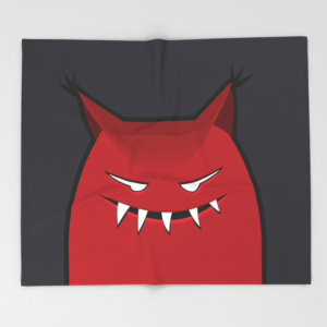 Evil monster blanket at Society6