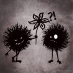 Evil bugs friends – cute dark character illustration
