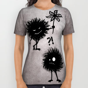 Evil bugs friends cute gothic all over printed tee at Society6