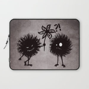 Evil bugs friends cute gothic laptop sleeve at Society6