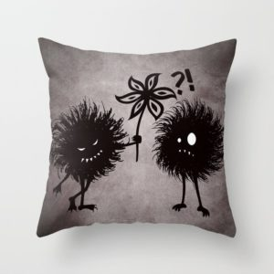 Evil bugs friends cute gothic pillow at Society6