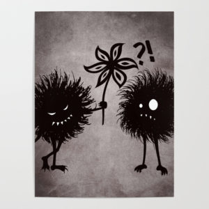 Evil bugs friends cute gothic poster at Society6