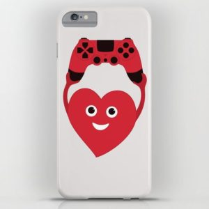 Gamer heart iPhone case at society6