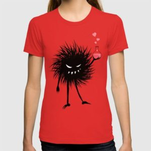 Evil bug chemist with love potion t-shirt at Society6