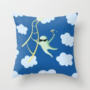 Funny character pillow at Society6
