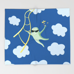 Funny character blanket at Society6