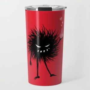 Evil bug chemist with love potion travel mug at Society6