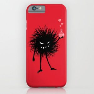 Evil bug chemist with love potion iPhone case at Society6
