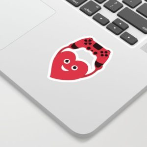 Gamer heart sticker at society6