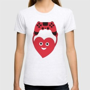 Gamer heart t-shirt at society6