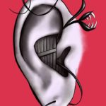 Funny ear art featured in Redbubble group