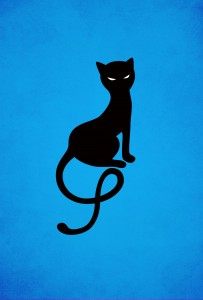 blue gracious evil black cat iphone wallpaper by boriana giormova