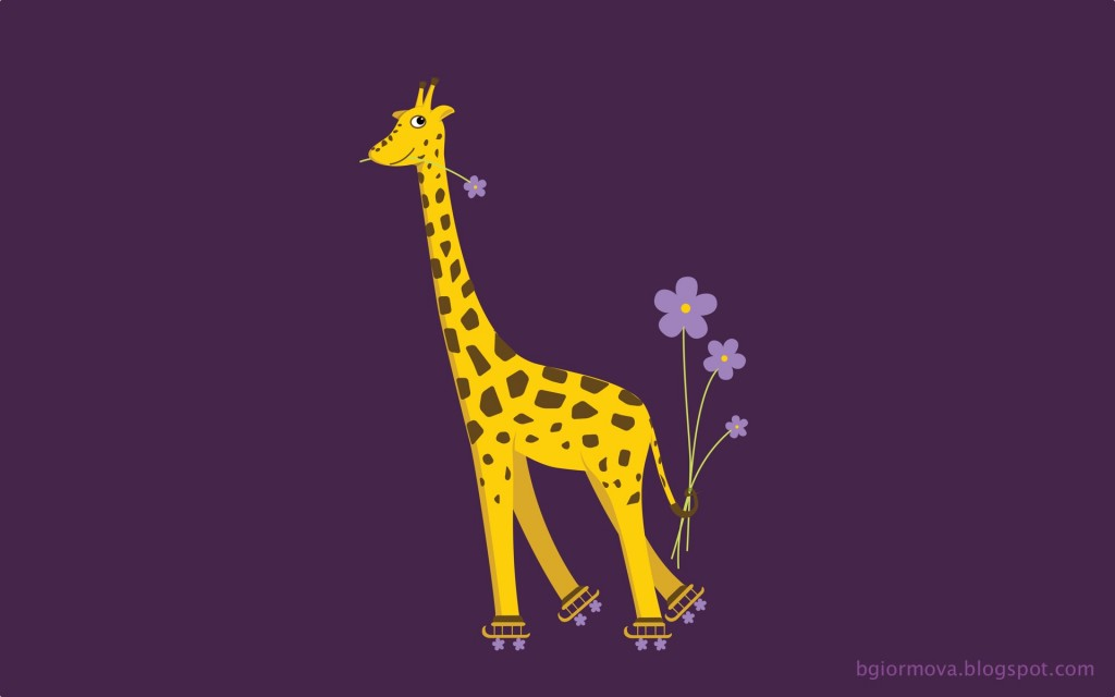 Purple skating giraffe desktop wallpaper by boriana giormova