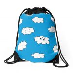 Funny clouds drawstring bag / Redbubble