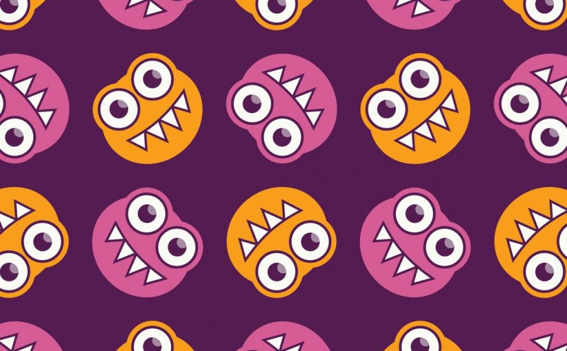 Cute Bugs Pattern In Purple Pink And Orange