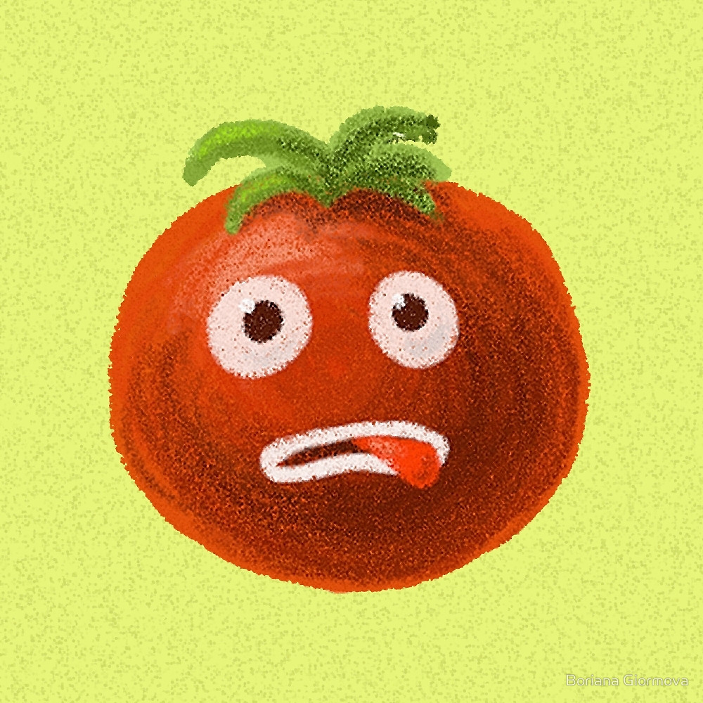 Funny tomato illustration