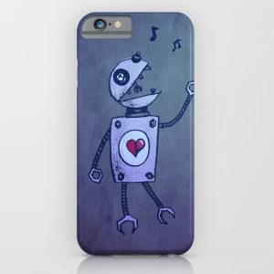 Robot character iPhone case at Society6