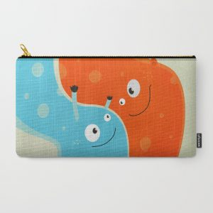 Happy mother and child pouch at Society6