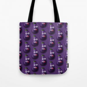 Funny eggplant character pattern bag at Society6