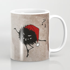 Dancing Christmas bug mug at Society6