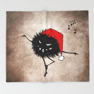 Dancing Christmas bug blanket at Society6