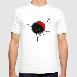 Dancing Christmas bug shirt at Society6