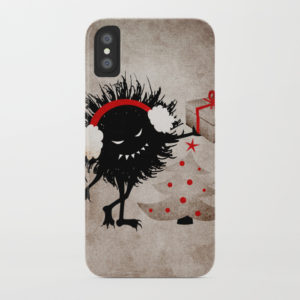 Evil Bug Gives Christmas Present iPhone X case at Society6