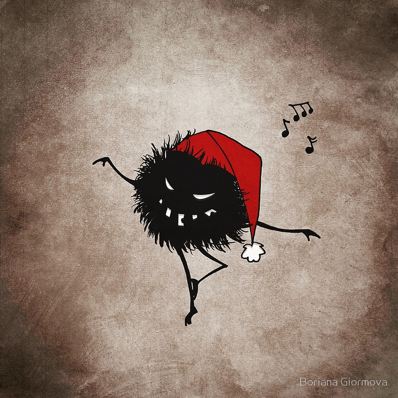 Dancing Christmas bug art print at Redbubble