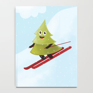 Pine tree on ski notebook at Society6