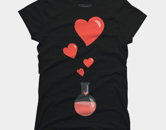 Love Chemistry Flask of Hearts Women's T-Shirt at Design By Humans