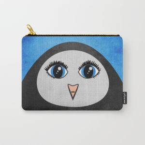 Geometric penguin pouch at Society6