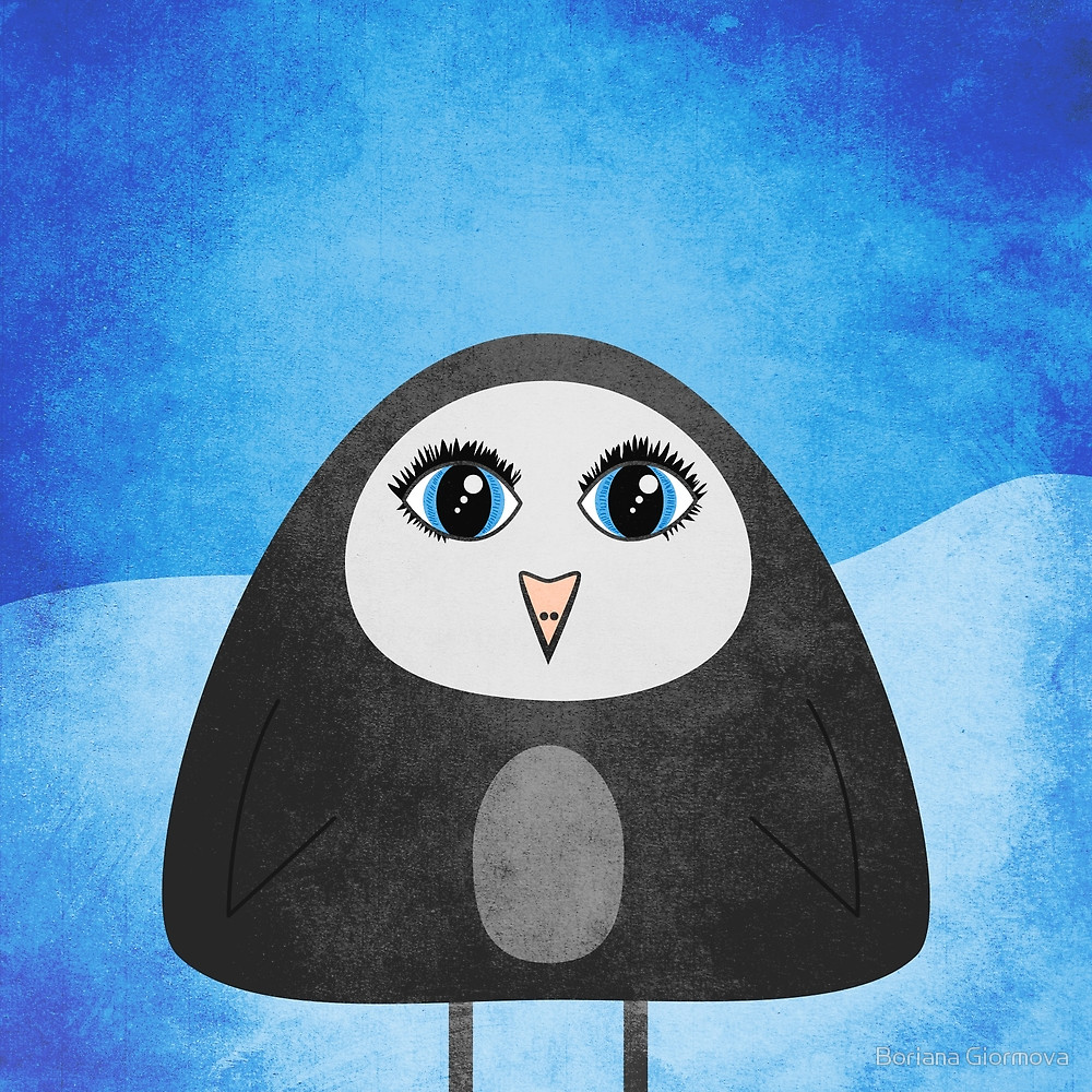 Geometric penguin cute illustration