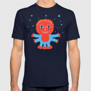 Happy alien character shirt at Society6