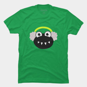 Sharp teeth bug with earmuffs tee at Design By humans