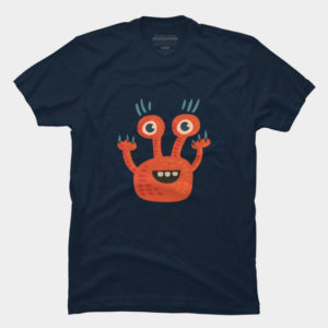 Cute orange creature shirt tee at Design By humans