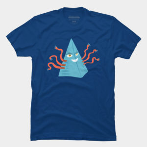 Happy pyramid with tentacles tee at Design By humans