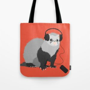 Ferret music lover bag at Society6